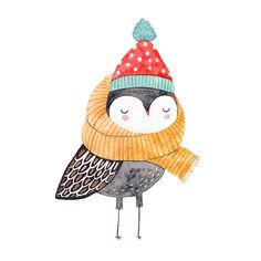 watercolor owl by Lena Erysheva #watercolor #illustration #drawing #owl