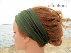 "Haarband / Stirnband ""Forest"" dunkelgrün von  Maria Elfenbunt auf DaWanda.com Etsy, Hair, Fashion, Headband Bun, Moda, Fashion Styles, Fashion Illustrations, Strengthen Hair"