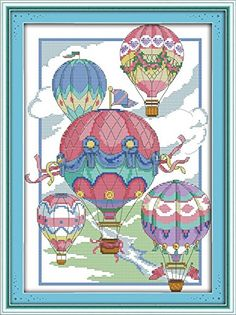 Good Value Cross Stitch Kits Beginners Kids Advanced The Illusion Of Hotair Balloons 11 CT 15X 20 DIY Handmade Needlework Set CrossStitching Accurate Stamped Patterns Embroidery Home Decoration >>> For more information, visit image link.