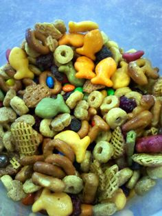 NUT FREE snack mix for kids