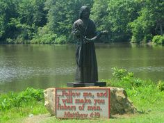 Statue of Jesus by Lake Carroll in Carrollton, GA, My maternal family in 1827 William (and Mary Orr Bryce) was Justice of the Peace here and their son James (and 5 of his sons too) were Methodist ministers Carrollton Georgia, Justice Of The Peace, William And Mary, Georgia On My Mind, My Town, Statues, Sons, Beautiful Places, Memories