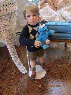 adorable serious looking Jane Bradbury little boy