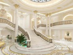 Professional Entrance Design in Dubai by Luxury Antonovich Design Mansion Interior, Luxury Interior, Home Interior Design, Elegant Home Decor, Elegant Homes, Villa Design, Floor Design, Luxury Homes Dream Houses, Entrance Design