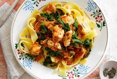 Slimminng World's light and tasty chicken pappardelle with a gorgeous garlic and veg passata sauce takes 1hr and 15 mins to make serving 4 people. It's the perfect family meal. This recipe is great for using up leftover chicken from your Sunday roast dinner too, just cook it for a shorter period of time making sure it is thoroughly reheated before serving.