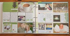Love the photos on top of the journaling cards.