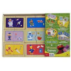 Sesame Street Wood Game Box