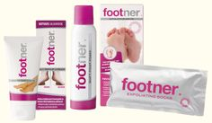 Footner-jalkojenhoitosarjan tuotteet hoitavat ja pehmentävät jalkojen ihoa.