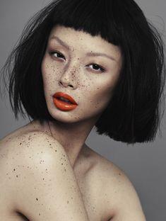 V Magazine: 'Speckled' - model: Alice Ma - photographer: Alex...