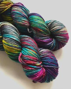 HAND DYED DONEGAL dk weight merino yak nylon by Fortheloveofyarnuk