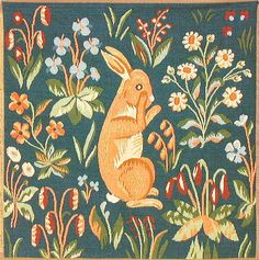 Historic Style - Tapestries - Standing Bunny
