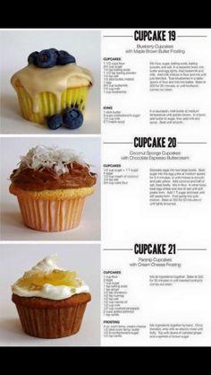 Cupcake Flavors, Cupcake Recipes, Cupcake Cakes, Dessert Recipes, Just Desserts, Delicious Desserts, Yummy Food, Fun Baking Recipes, Sweet Recipes