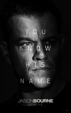 'Jason Bourne' (2016) by Paul Greengrass. Visual and action packed in the way Matt Damon and Paul Greengrass know so well. The master of the quick cut. An origin story lacking in substance but worth a watch to see the car smash 'em ups, lots of phonecalls and plenty of people storming around corners with purpose.
