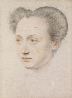 Portrait de Marie Touchet. Elle était la seule maîtresse de Charles IX de France. Bien que né d'une famille huguenote bourgeoise, elle tenait son rang à la cour, ainsi que l'une des premières dames de classe. Quand Charles IX est mort, elle a épousé Charles Balzac d'Entragues, et eut une fille Henriette qui devint plus tard la maîtresse d'Henri IV