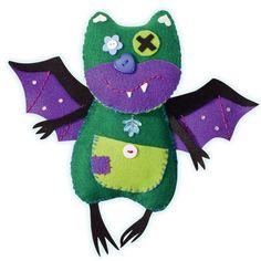 Bastelset Little Monster Friends ''Batty'',  von A -Z Bastelshop auf DaWanda.com