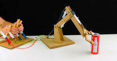 How to Make Hydraulic Powered Robotic Arm from Cardboard | Sia Magazine