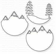 Papertrey Ink - Scene It: Mountain View Die