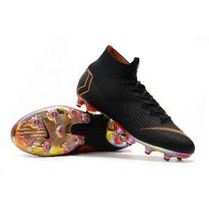 half off ffc93 ae5bc Nike Mercurial Superfly 6 Elite AG-PRO Black Total Orange White Soccer  Shoes, Soccer
