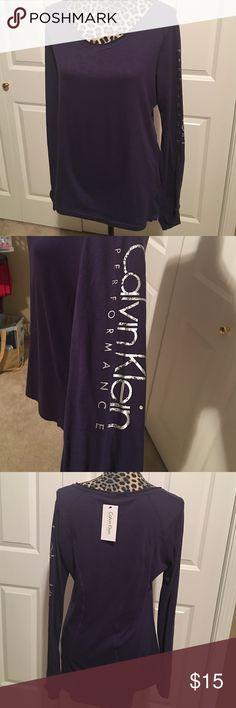 Calvin Klein performance shirt Calvin Klein performance quick dry shirt size XL Calvin Klein Tops Tees - Long Sleeve