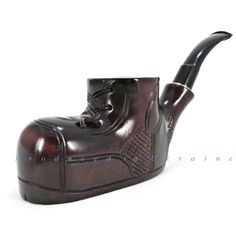 Wooden Tobacco Smoking Pipe Handmade Carved Boot + Gift