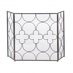 You'll feel lucky to have this gorgeous iron fireplace screen as part of your room's decor. It features a three-panel design that allows you to fit it perfectly in front of your fireplace, and the lovely clover design is a work of art with or without a roaring fire glowing behind it.