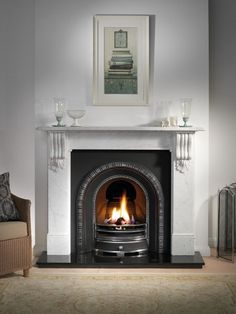 Gallery Collection, Henley Cast Iron Arched Fire Insert Direct Fireplaces - Fireplaces, Fire Surrounds, Gas Fires and Electric Fires.