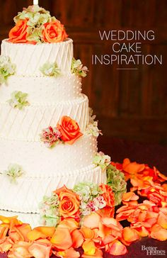 Get romantic and pretty wedding cake ideas for your fairytale wedding from Better Homes and Gardens.