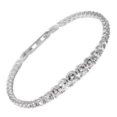 Diamond Tennis Bracelet Tiffany-Diamond Tennis Bracelet, a Simple yet Beautiful Jewelry Diamond Bracelets, Jewelry Bracelets, Diamond Jewellery, Bangles, Necklaces, Cute Work Outfits, Vintage Tennis, Wnba, Kinds Of Shoes