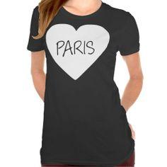 Love Paris heart Tshirts