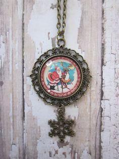 Santa Claus/Reindeer Glass Filigree Pendant by CharmedDesignsByJC, $21.99 https://www.etsy.com/listing/169605414/santa-clausreindeer-glass-filigree?ref=shop_home_active