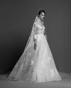 657cebe3da92 georges hobeika spring 2019 bridal cap sleeves v neck full embellishment  princess elegant a line wedding dress chapel train mv -- Georges Hobeika  Spring ...