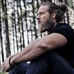 Norwegian babe Lasse L. Matberg who is sensually rugged… | 23 Beard And Man Bun Combinations That Will Awaken You Sexually