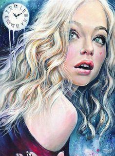 There are women-puzzle . Enchanted Forest Coloring Book, Human Art, Portrait Art, Portraits, Face Art, Art Images, Art Inspo, Art Girl, Creative Art