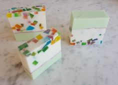 """handmade shea butter and glycerin """"birthday party"""" soap"""