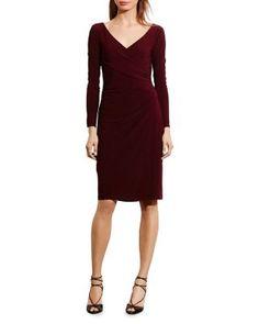 Lauren Ralph Lauren Crossover Dress   Bloomingdale's