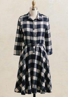 Cute Dresses - Burke Plaid Dress