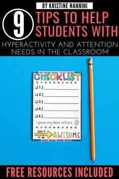 9 Tips to Help Students with ADHD, Hyperactivity, and other Attention Needs in the Classroom - Young Teacher Love 4th Grade Classroom, Middle School Classroom, High School, Classroom Checklist, Classroom Ideas, Classroom Organization, Elementary Teacher, Upper Elementary, Classroom Behavior Management