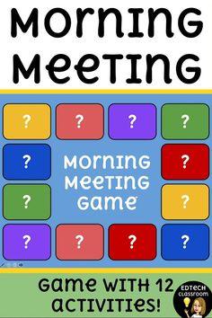 Meeting Games, Morning Meeting Activities, Back To School Activities, Classroom Activities, Learning Activities, First Day Activities, Morning Meetings, Speech Activities, Kindergarten Lessons