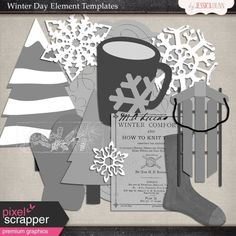 Winter Day Element Templates
