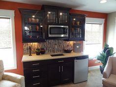 Basement kitchenette apartment style
