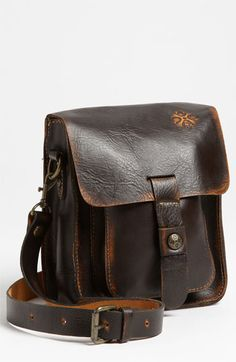 Cool looking distressed leather and multi-pockets.  I only wish that the little emblem weren't on it.  Patricia Nash 'Lari' Crossbody Bag available at #Nordstrom