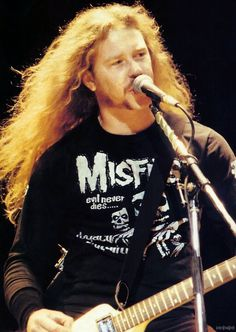 James Hetfield with Misfits t-shirt