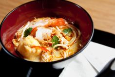Seafood Laksa Noodles at our lounge in Hong Kong #CXnoodles