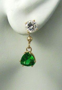 EARRING JACKETS for Studs 14k Gold Gemstone  Enhancer by earcuffs, $169.00