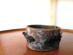 Mens leather and black denim cuff bracelet Rustic men by So cliché jewelry https://www.facebook.com/soclichejewelry