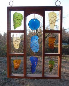 Suncatcher Sun Catcher Stained Glass Sea Glass by CoastChimes, $225.00