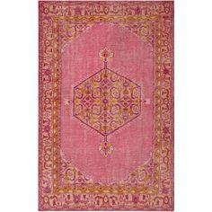 Zahra Hot Pink/Gold Rug