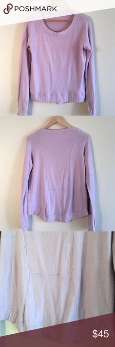 Lilian purple crew neck sweater Lilian purple crew neck sweater super soft! Size xs but fits like a small Stem Baby Sweaters Crew & Scoop Necks