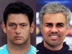Połączenie trenera Chelsea Londyn i napastnika • Jose Mourinho i Diego Costa zamienili się swoimi twarzami • Zobacz śmieszny obrazek >> #mourinho #football #soccer #sports #pilkanozna #funny #memes