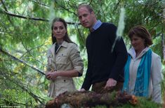 The duke and duchess were led through the rainforest, and enjoyed some drier weather on th...
