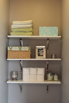 1000 Images About Half Bath Shelving Above The Toilet On